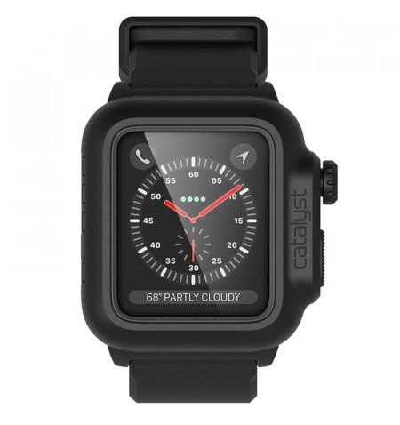 Catalyst Waterproof Case - Etui wodoszczelne + pasek Apple Watch 38 mm seria 3 / seria 2 (Stealth Black)