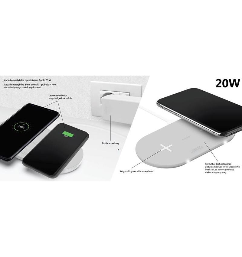 PURO Fast Wireless Dual Dock Bezprzewodowa ładowarka