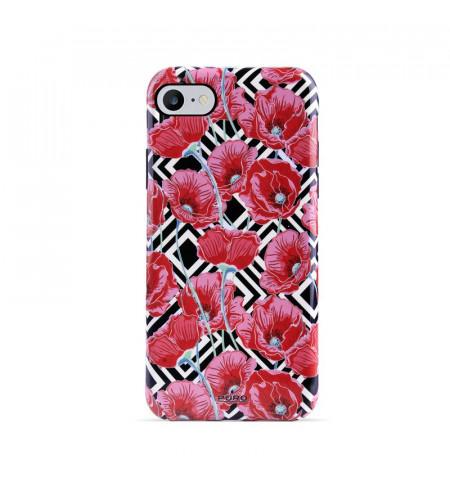 PURO Glam Geo Flowers - Etui iPhone SE 2020 / 8 / 7 / 6s (Red Poppies)