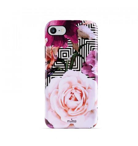 PURO Glam Geo Flowers - Etui iPhone SE 2020 / 8 / 7 / 6s (Pink Peonies)