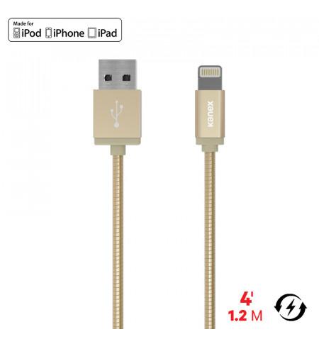 Kanex Premium DuraFlex Lightning - Kabel MFi z Lightning do USB, 1.2 m (Gold)