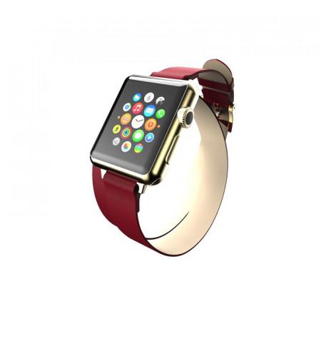 Incipio Reese Double Wrap - Skórzany pasek do Apple Watch 38mm (czerwony)