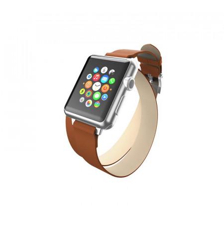 Incipio Reese Double Wrap - Skórzany pasek do Apple Watch 38/40 mm (tan)