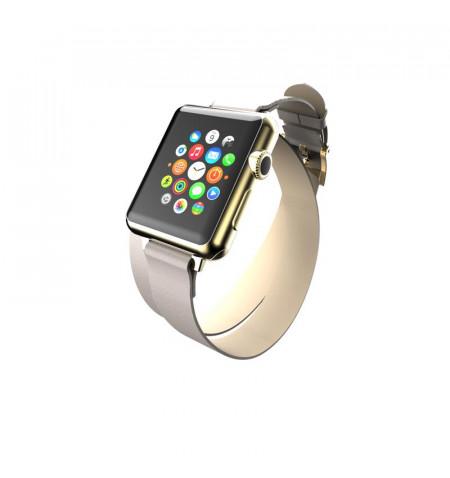Incipio Reese Double Wrap - Skórzany pasek do Apple Watch 38/40 mm (taupe)