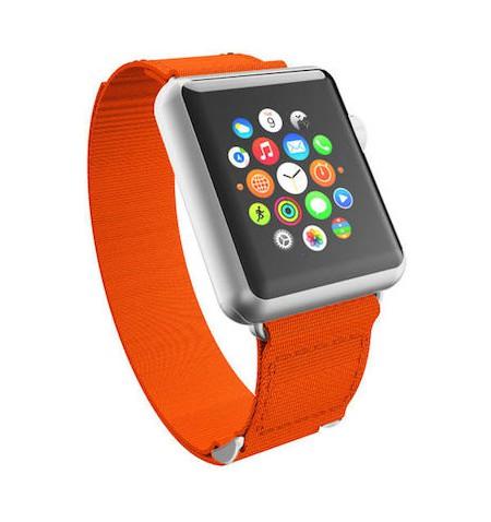 Incipio Jacquard Watch Band Nylonowy pasek do Apple Watch 42/44mm (pomarańczowy)