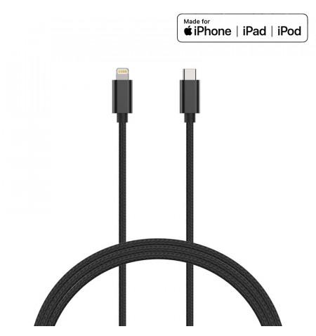 Kanex DuraBraid - Kabel połączeniowy USB-C (Power Delivery) na Lightning MFi 1,2 m (Black)