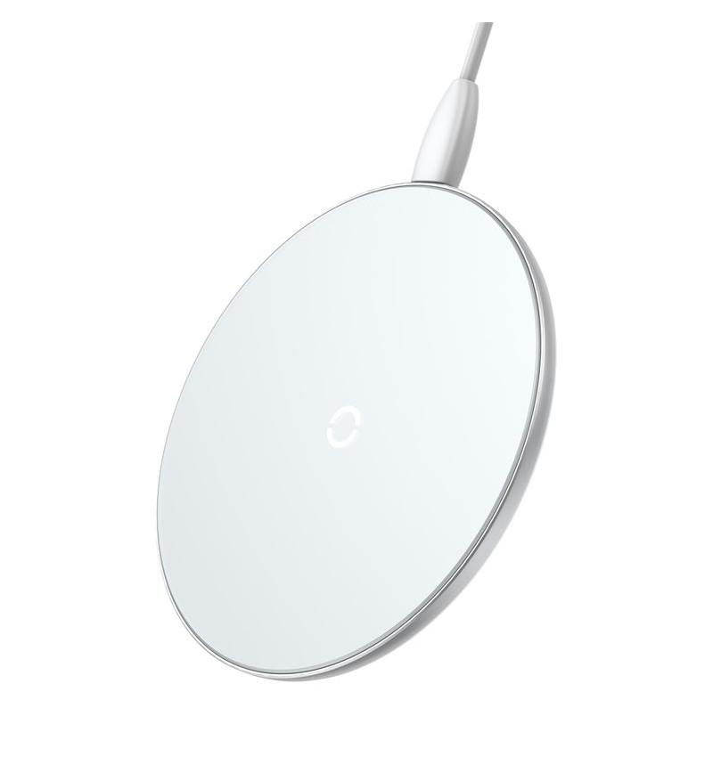 Baseus Simple Bezprzewodowa ładowarka indukcyjna Qi do iPhone i Android, 10 W (biały)