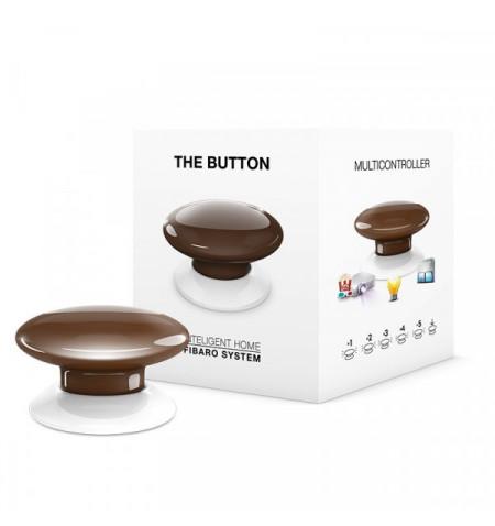 Fibaro The Button - przycisk do aktywowania 6 wybranych scen (brązowy) Z-WAVE