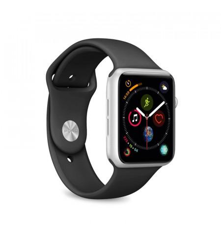 PURO ICON Apple Watch Band - Elastyczny pasek sportowy do Apple Watch 38 / 40 mm (S/M & M/L) (czarny)