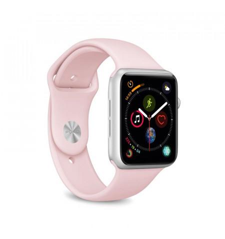PURO ICON - Elastyczny pasek sportowy do Apple Watch 38/40 mm (S/M & M/L) (piaskowy róż)