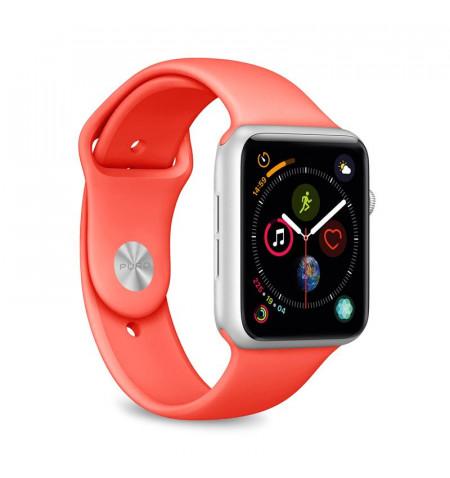 PURO ICON - Elastyczny pasek sportowy do Apple Watch 42/44 mm (S/M & M/L) (Living Coral)