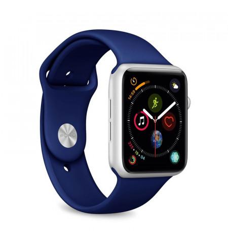 PURO ICON Apple Watch Band - Elastyczny pasek sportowy do Apple Watch 42 / 44 mm (S/M & M/L) (granatowy)