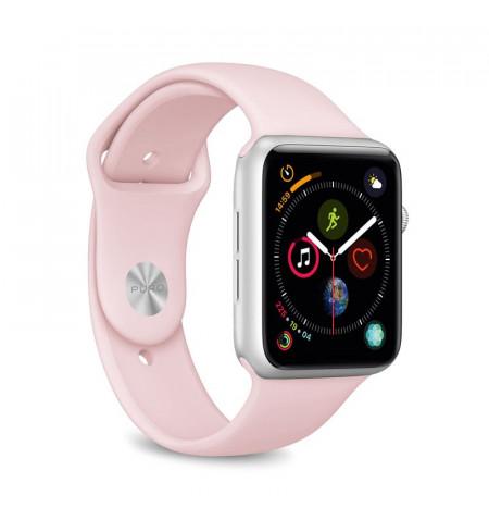 PURO ICON Apple Watch Band - Elastyczny pasek sportowy do Apple Watch 42 / 44 mm (S/M & M/L) (piaskowy róż)