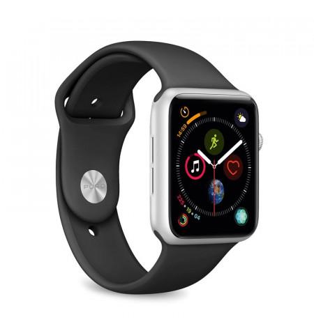 PURO ICON Apple Watch Band - Elastyczny pasek sportowy do Apple Watch 42 / 44 mm (S/M & M/L) (czarny)