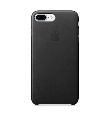 Apple Leather Case - Skórzane Etui do iPhone 8 Plus / 7 Plus (czarny)