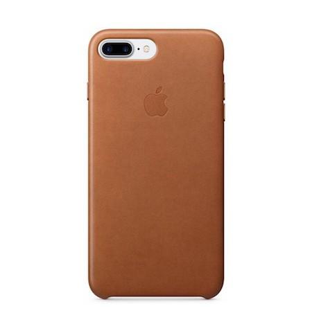 Apple Leather Case - Skórzane Etui do iPhone 8 Plus / 7 Plus (naturalny brąz)