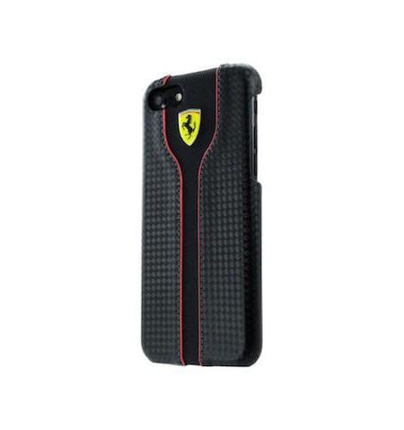 Ferrari Hardcase RC - Etui skórzane do iPhone 8 / 7 (czarny)