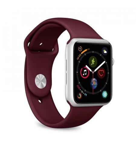 PURO ICON Apple Watch Band - Elastyczny pasek sportowy do Apple Watch 42 / 44 mm (S/M & M/L) (bordowy)