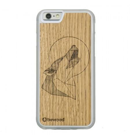 BEWOOD Geometric Animals drewniane Etui do iPhone  6S/ 6 (wilk, przezroczysty)