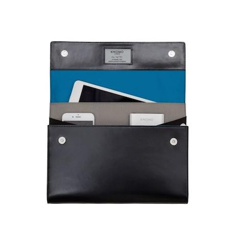 Knomo Knomad Ai Zip - skórzany organizer i etui dla iPad Air /Air 2/iPad 9,7 (czarny)
