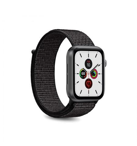 PURO Apple Watch Band - Nylonowy pasek do Apple Watch 38 / 40 mm (Czarny)