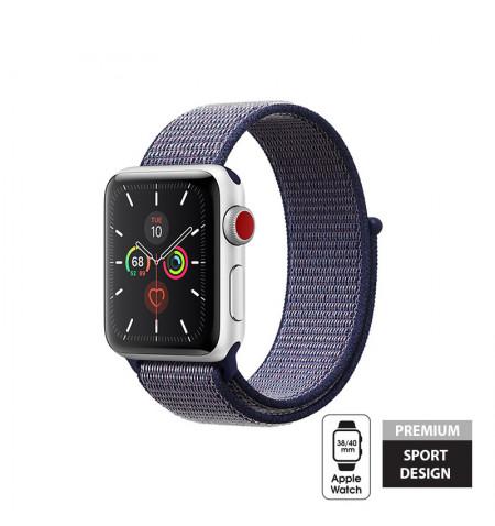 Crong Nylon Band - Pasek sportowy Apple Watch 38/40 mm (Midnight Blue)