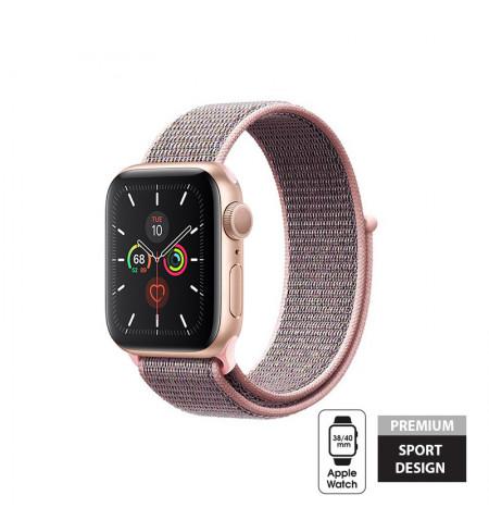 Crong Nylon Band - Pasek sportowy Apple Watch 38/40 mm (Light Pink)