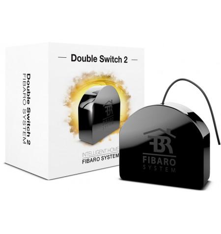 Fibaro Double Switch 2 - włącznik/wyłącznik do montażu w gniazdkach (dwuobwodowy) Z-WAVE