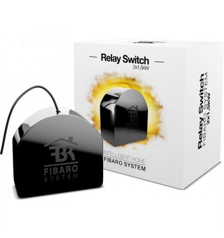 Fibaro Relay Switch 2x1,5kW - włącznik/wyłącznik do montażu w gniazdkach (dwuobwodowy)