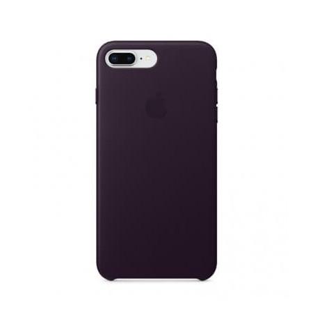 Apple Leather Case - Skórzane Etui do iPhone 8 Plus / 7 Plus (oberżyna)