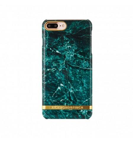Richmond & Finch MARBLE GLOSSY Etui do iPhone 8 Plus / 7 Plus (zielone)