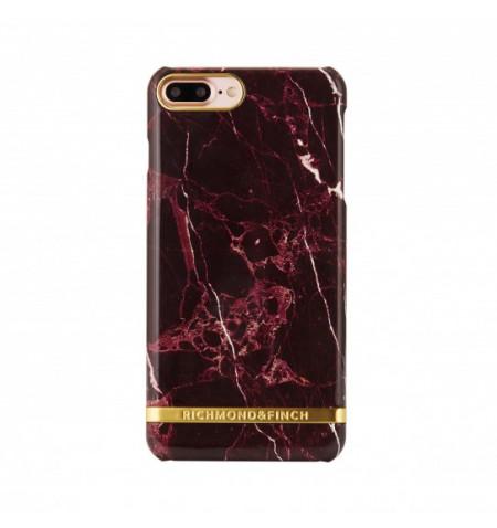 Richmond & Finch MARBLE GLOSSY Etui do iPhone 8 Plus / 7 Plus (bordowy)