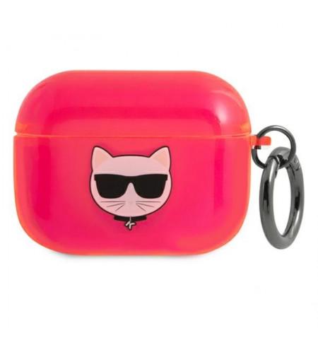 Karl Lagerfeld Choupette Head - Etui Airpods Pro (fluo różowy)