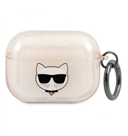 Karl Lagerfeld Choupette Head Glitter - Etui Airpods Pro (złoty)