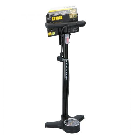 Dunlop - Pompka podlogowa do rowerów z manometrem