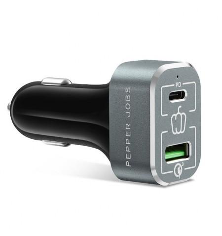 Pepper Jobs - Ładowarka samochodowa 63W do MacBook/ iPad/ iPhone